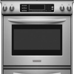 KitchenAid 30-Inch 4-Burner Slide-In Gas Range - Even-Heat™ True Convection System provides even heating throughout oven. EasyConvect™ Time and Temperature Conversion System takes the guesswork out of convection cooking.