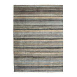 """Darya Rugs - Darya Rugs Modern, Gray, 9'0"""" x 12'1"""" M6289-19 - Darya Rugs Modern collection represents a minimalistic, timeless statement that complements transitional, contemporary, and traditional interiors. All rugs were hand-knotted by skilled artisans and weavers."""