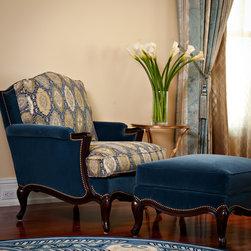 Music Room - Custom Lilian August Chair with Duralee Fabric