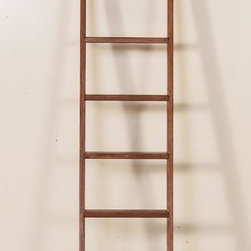 Sunny Designs - Sunny Designs Sedona Library Ladder In Rustic Oak - Sunny Designs Sedona Library Ladder In Rustic Oak