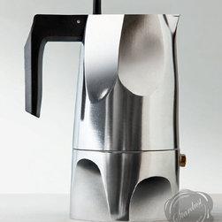 Italian Espresso Maker OSSIDIANA Alessi at Stardust - The Ossidiana two-part cast aluminum espresso pot is a new Italian designer stovetop espresso maker that already is destined to be a classic.  Shop the Alessi Ossidiana Espresso Coffee Maker at Stardust.