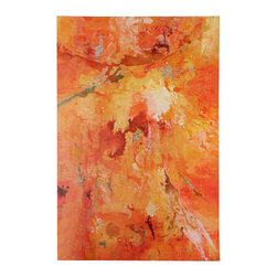 Uttermost Radiant Sun Modern Art - Hand painted oil on canvas over wooden stretchers. Bursting with color, this hand painted artwork is on canvas that is stretched and attached to wooden stretching bars. Due to the handcrafted nature of this artwork, each piece may have subtle differences.