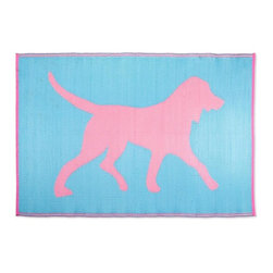 KOKO - Dogs Floor Mat, Pink/Turquoise, 6' x 4' - Any dog-lover would love to have a beach mat covered in sweet dogs. Stash a couple of these in the back of your car and you'll be all set for spending this summer's impromptu beach days in style.