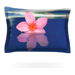 "Kess InHouse - Bree Madden ""Plumeria"" Pillow Sham (Cotton, 30"" x 20"") - Pairing your already chic duvet cover with playful pillow shams is the perfect way to tie your bedroom together. There are endless possibilities to feed your artistic palette with these imaginative pillow shams. It will looks so elegant you won't want ruin the masterpiece you have created when you go to bed. Not only are these pillow shams nice to look at they are also made from a high quality cotton blend. They are so soft that they will elevate your sleep up to level that is beyond Cloud 9. We always print our goods with the highest quality printing process in order to maintain the integrity of the art that you are adeptly displaying. This means that you won't have to worry about your art fading or your sham loosing it's freshness."
