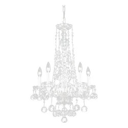 "The Gallery - Crystal Chandelier Murano Venetian Style 16""X23"" Crystal Chandelier Lighting ... - THIS MAGNIFICENT CHANDELIER IS DRESSED WITH 100% CRYSTAL. Nothing is quite as elegant as the fine crystal chandeliers that gave sparkle to brilliant evenings at palaces and manor houses across Europe. This beautiful chandelier is decorated with 100% crystal that capture and reflect the light of the candle bulbs, each resting in a scalloped bobache. The crystal glass arms of this wonderful chandelier give it a look of timeless elegance that is sure to lend a special atmosphere in any home.Assembly Required Size: W 16.25"" H 23"" FINISH: Silver Finish"