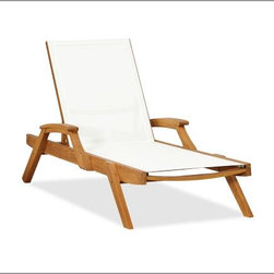 Hampstead Mesh Stacking Single Chaise - Get ready for summer sunbathing with these stackable chaise lounges. I love to take a book, lather on the sunscreen, don a pair of oversize sunnies and just relax to my heart's content.