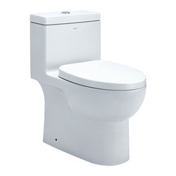 EAGO - EAGO TB359 White Dual Flush One Piece Eco-Friendly Ceramic Toilet - We are very excited to offer you this top of the line brand of eco-friendly low consumption modern smart toilets. Join the latest fashion trend with EAGO's innovative line of green products.