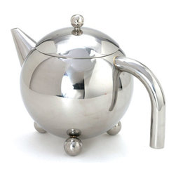 Cuisinox - Cuisinox 48 oz Teapot with Infuser - This beautifully designed teapot comes with an infuser basket which gives you the option of using tea leaves, tisanes, or teabags. The infuser basket facilitates the removal of the tea bag or tea leaves. Made from durable stainless steel, this teapot stands up to everyday use. Other sizes and satin finish is also available.