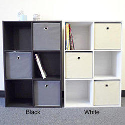 None - Colonial 6-cell Storage Cube - Get organized with this Colonial 6-cell storage cube. Available in black or white to suit your decor,the shelving unit can be placed horizontally or vertically.
