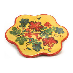 Artistica - Hand Made in Italy - Marikla: Trivet Hot Plate - Grape Design - The all New Marikla is truly a distinctive collection of table top and gift items.