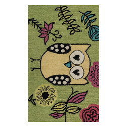 "Loloi Rugs - Loloi Rugs Skylar Collection - Green / Yellow, 2'-3"" x 3'-9"" - Make a big statement in small spaces with the Skylar Collection. Hooked in India of 100% wool, the designs bring colorful, bold attitude perfect for entry ways, bathrooms, and kid's rooms.�"