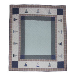 Patch Quilts - Sail Trail Quilt Queen 85 x 95 - - Intricately appliqued and beautifully hand quilted.Bedding ensemble from Patch Magic  - The Name for the finest quality quilts and accessories  - Machine washable.Line or Flat dry only Patch Quilts - QQSLTR