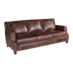 Hooker Furniture - Hooker Furniture Parthenon Temple-85 Stationary Sofa - Developed by one of America's premier manufacturers to offer quality furniture at affordable prices. Each piece is meticulously hand-crafted using the most exquisite leathers in the world. The Parthenon Temple-85 Stationary Sofa is crafted using 085 Parthenon Temple leather.