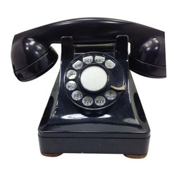 Black WE Model 302 Telephone 1937 Metal Base - $250 Est. Retail - $199 on Chairi -