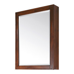 Avanity - Madison 28 in. Mirror Cabinet - Classic and refined, this mirror cabinet will bring structured storage and reflection to your bathroom. With three glass shelves and a wood frame that acts as a fourth shelf behind the mirror door, you'll have plenty of space, as well as the ability to hide it all away. This poplar and glass cabinet comes in your choice of tasteful finishes: tobacco or espresso.