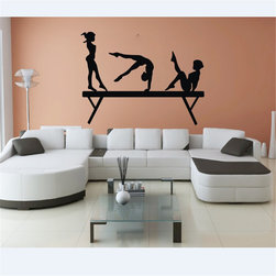 ColorfulHall Co., LTD - Gril Wall Sticker For Bedroom 3Girls On Gym Gymnastic Physical Exercises Sport - Gril wall sticker for bedroom 3girls on Gym Gymnastic physical exercises sport