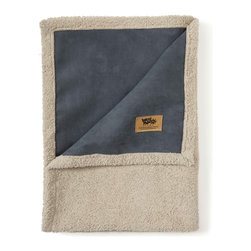 West Paw Design - Big Sky Blanket Dog Bed in Storm Blue, Large - West Paw Design's Big Sky Blanket® for pets is hand sewn in Montana and these super plush blankets have faux suede on one side and silky fabric on the other. Available in home decor-friendly colors and big sizes to keep dog's dirt, dander and drool off couches, chairs, beds and backseats. So snuggly customers may want to buy two - one for themselves and one for their furry friends. Available in four color options: Coffee Bean Brown, Jade Green, Storm Blue and Smoke White. Machine washable (cold) and tumble dry. Made in Montana, USA