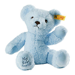 Steiff - Steiff Baby My First Steiff Teddy Bear Blue - What better way to start life than with your very own, very first Steiff Teddy bear. He´ll keep you warm, he´ll keep you safe and he will always keep your secrets. What better gift to give a newly born? Why not give them the best start in life with a best friend for life?