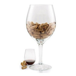 Oversize Wineglass Cork Holder - Show off your corks in style in this oversize wineglass.