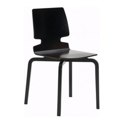 """Artek - Lento Chair - Features: -Legs form pressed birch veneer. -Seat shell form pressed birch plywood. -Stackable. -Seat height: 17.7"""". -Overall dimensions: 30.9"""" H x 20.3"""" W x 20.5""""D."""