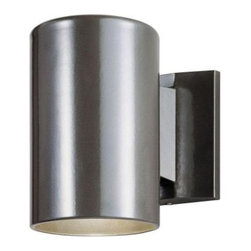 Westinghouse - Westinghouse 1-Light Bronze Exterior Wall Lantern with Aluminum Cylinder 6797300 - Shop for Lighting & Fans at The Home Depot. This Westinghouse wall lantern features sleek mid-century modern design, with a bronze finish on an aluminum cylinder. This lantern also features a clean rectangular back plate that contrasts with the rounded body of the lantern. Install this modern lantern in your front or back entryway, or by your garage door, deck area, patio, balcony, or side entrance. Wherever you mount it, you will enjoy the lantern's indirect light and clean lines. The lantern is 7 in. x 4-1/2 in. (H x W), and it extends 7-7/8 in. from the wall. It is 2-3/4 in. high from the center of the outlet box. The back plate measures 5 in. x 4-1/4 in. (H x W). This Westinghouse lantern is UL listed for safety. It is backed by a 5-year warranty against defects in materials and workmanship.