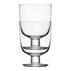 Iittala - Lempi Universal Glass, Set of 4, 10.5 Oz. Clear - You put thought into what beverages to serve, but at least your glasses can be a no-brainer. These classic goblets have a great shape, a sturdy pedestal and an ample 10-1/2-ounce capacity.