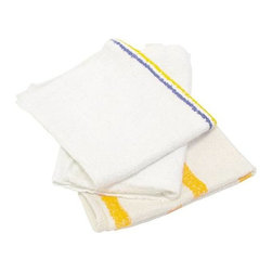 RENOWN - COUNTER CLOTH, BAR MOP CLOTH - Renown value choice ribbed terry bar mop towels. Reusable rags great for soaking up liquids and other messes on tables and bars. Made of soft terry-type material. White in color. Pack 25 pounds of cloths.