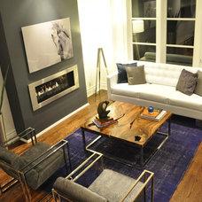 Modern Living Room by Klassmore Designs