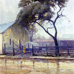 "Julian Onderdonk Rainy Day in Bandera - 18"" x 24"" Premium Archival Print - 18"" x 24"" Julian Onderdonk Rainy Day in Bandera premium archival print reproduced to meet museum quality standards. Our museum quality archival prints are produced using high-precision print technology for a more accurate reproduction printed on high quality, heavyweight matte presentation paper with fade-resistant, archival inks. Our progressive business model allows us to offer works of art to you at the best wholesale pricing, significantly less than art gallery prices, affordable to all. This line of artwork is produced with extra white border space (if you choose to have it framed, for your framer to work with to frame properly or utilize a larger mat and/or frame).  We present a comprehensive collection of exceptional art reproductions byJulian Onderdonk."