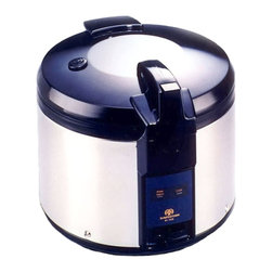 SPT Appliance - Sunpentown 26 Cups Stainless Steel Rice Cooke - Suitable for commercial and catering applications, this fabulous stainless steel rice cooker has an incredible 26-cup capacity.  Smart stainless steel finish looks great in any kitchen.  Your rice or vegetables will be perfectly steamed and can be kept warm for hours while still retaining moisture and flavor.  This versatile set includes the heavy-duty cook pot with a handy measuring cup and scoop. Super large 26 cups capacity. Keeps warm for up to 12 hours. Heavy duty stainless steel body. NSF certified. Accessories included (measuring cup and rice scooper). Input voltage: 120V / 60Hz. Capacity: 26 cups / 4 liters. Power consumption: 800 W. Inner pot dimension: 12 W x 7 H in.. 17.75 in. W x 14.50 in. HSuper large capacity rice cooker, ideal for restaurant use. Features auto-warm and heavy duty stainless steel body.