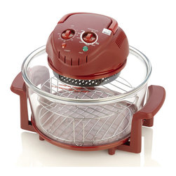 Fagor America - Fagor Red 12-quart Halogen Tabletop Oven - Grill, broil, bake, steam, roast or fry while saving energy! Highly efficient portable halogen oven cooks up to 50-percent faster and 75-percent more energy efficient than conventional oven. 1200 W, 12 qt Capacity.