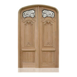 "Hand Carving | 2592 | 2-7 - Species: White Oak, Distress: Tuscany, Hinges: 8.- 4.5"" Lafayette in antique bronze, Interior"