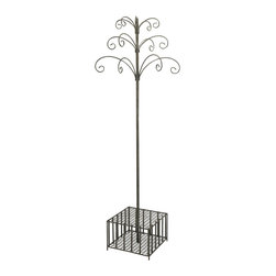 iMax - iMax Garden Stake and Wind Chime Display X-72448 - Great for any garden display, this metal piece easily holds your collection of garden stakes and wind chimes in an easy to shop, central location. Can also be used for a variety of items, think umbrellas and hats, walking sticks and canes, the list goes on!
