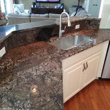 Transitional Kitchen Countertops by Michigan Kitchen Cabinets