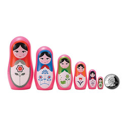 "The Original Toy Company - The Original Toy Company Kids Children Play Babushka Micro - These great micro size nesting dolls range in size from 3.25"" tall to a mere 3/4"" per set Collect them all. Gender: Both. weight: 1 lbs."