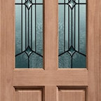Doors by ABL Doors - The Hardwood Style Richmond Donneglazed door from ABL Doors features double glazed units with a leaded pattern lovingly crafted onto it.