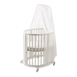 Stokke - Sleepi Bassinet White Canopy by Stokke - Wrap your baby in delicate elegance with this sheer white canopy designed specifically to hang from the rod of the Sleepia? bassinet. 100% cotton.