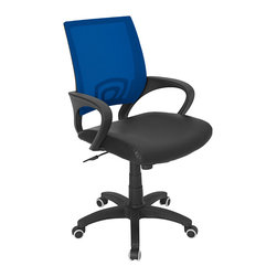 Lumisource - Officer Office Chair, Blue - 23 L x 19 W x 36 - 40 H