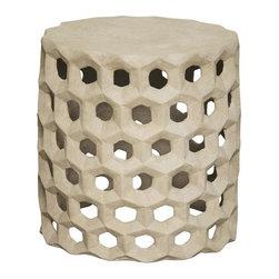 NOIR - NOIR Furniture - Joan Stool in Fiber Cement - AR-189FC - Features: