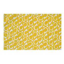 The Rug Market - YANG YELLOW ,Area Rug ,size   5x7 - This contemporary rug is made of UV Poly and will surely add color to any space