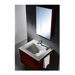 Vigo Industries - Vigo 31 in. Bathroom Vanity Set with Ceramic Sink - Try something new with this contemporary Vigo bathroom vanity. No other brand can match Vigo's style, quality and design.