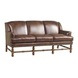 EuroLux Home - New Leather Sofa Top Grain Leather Unusual - Product Details