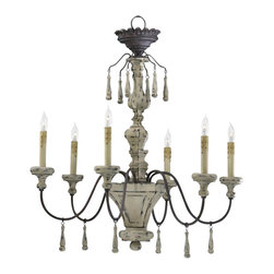 "Cyan Design - Cyan Design Six Lamp Chandelier - Our lighting collection from Cyan Designs features a wide range of styles from modern to classic. Well-made and versatile, it's a great solution for your lighting needs. Cyan Design Provence 6lt Chandlr-chs. 29.5""(w) x 31.75""(h). UL approved. Assembly Required. Bulbs not included. 60 Watts."