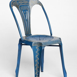 Magical Thinking Industrial Chair, Blue - We love the industrial look of this chair.