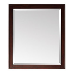 """Avanity - Madison Mirror in Light Espresso - The Madison Collection combines function with style. It is constructed of solid birch wood and veneer. Features: -Mirror. -Madison collection. -Light Espresso finish. -Frame construction: Solid birch wood. -Available in 24"""", 28"""" and 36"""" width sizes. -Wood cleat at back for easy hanging. -Can be hanged horizontal and vertical. Specifications: -24"""" Mirror dimension: 32""""H x 24""""W. -28"""" Mirror dimension: 32""""H x 28""""W. -36"""" Mirror dimension: 32""""H x 36""""W."""