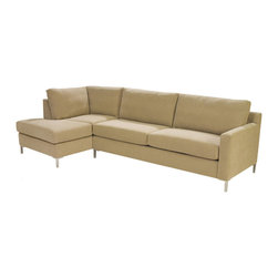 Lazar Industries - Soho Sectional:  Chaise and Adjacent 2-Seater Queen Sleeper - Soho Sectional:  Chaise and Adjacent 2-Seater Queen Sleeper:  Lazar's most popular and customizable stlye, the Soho offers modern luxury in a compact package.