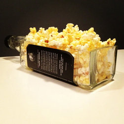 Upcycled Housewares - Impress your guests with this large serving bowl hand cut from a magnum size Jack Daniels bottle. Perfect for popcorn, chips and nuts while watching your favorite game or movie.