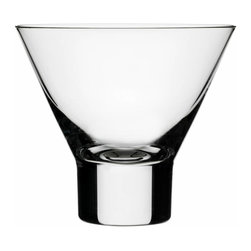 Iittala - Aarne Cocktail, Set of 2, 4.5 Oz. Clear - Forget the standard martini glass this year. If you're mixing up cocktails, why not take a fresh twist on the classic glass with a modern stemless version? Whether you take yours shaken or stirred, these are perfect for serving a cosmo, Manhattan or martini.