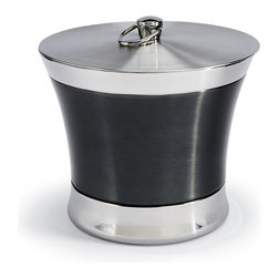 Frontgate - Optima Blue Finish Ice Bucket - Double-walled 18/8 stainless steel allows a layer of air to function as the insulator. Ideal for parties as well as everyday use. Fill with ice cubes for beverages, or keep a favorite white wine bottle chilling on ice. Place this elegant Optima Ice Bucket on any surface without a care. This outdoor ice bucket ensures maximum cold retention and no condensation. .  .  .