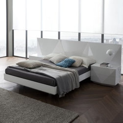 Sapphire Platform Bed - White - Your style is multi-faceted, so make sure your bed is as interesting as you are with the Sapphire Platform Bed - White. This clean white lacquered design features an angular geometric design that makes other beds look downright dull. Set off your modern style and find your favorite place in the house in this beautifully crafted piece of art.About Rossetto USARossetto USA is the U.S. division of the Arros Group, a leading manufacturer that exports Italian furniture style and design all over the world. Operating out of its warehouse in High Point, N.C., since 1999, Rossetto provides complete contemporary and modern dining, bedroom, and occasional furniture programs that combine affordable price with innovative Italian design to satisfy the demands of their distinguished customers.